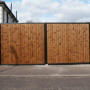 Close boarded timber gates
