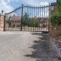 Wrought Iron gate with underground gate motor