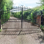 Driveway gate with underground system